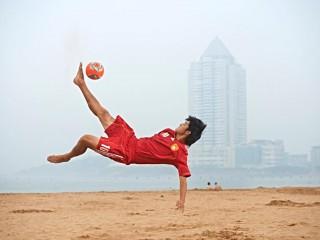 Whan Chao maglia Cina Canalicchio Beach Soccer