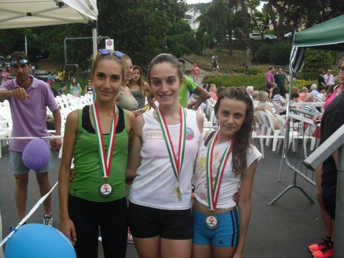 podio categoria cadette - vincitrice Alice Leonardi