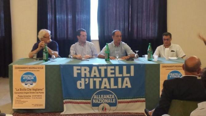 Da sinistra: Nicola Cristaldi. Sandro Pappalardo, Giampiero Cannella e Roberto Tudisco