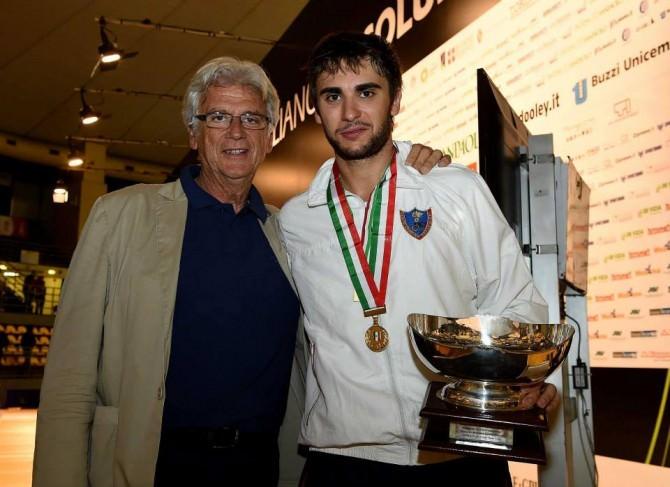Enrico Garozzo con il Presidente Sebastiano Manzoni