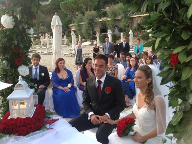Foto Paolo Pizzo e Lavinia Bonessio durante le nozze