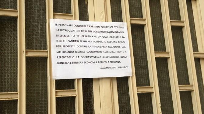 Protesta Consorzio Bonifica Catania 30 settembre 2015
