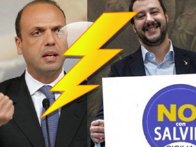 Scontro Alfano Salvini Immigrazione