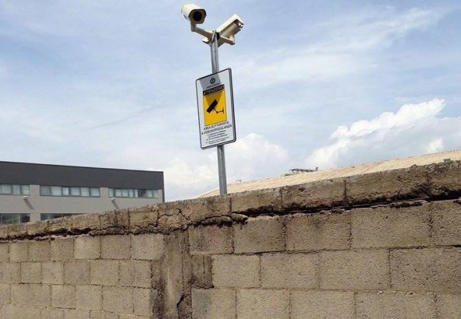 Una delle telecamere installate