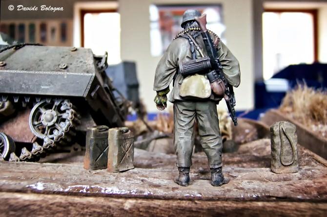 Dettaglio di un diorama ambientato nella seconda guerra mondiale