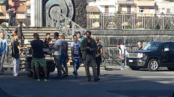 Riprese Squadra Antimafia 8: Giulio Berruti in giro per Catania