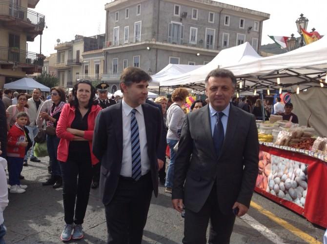 Il Sindaco Russo col ViceMinistro Olivero all'Ottobrata 2015