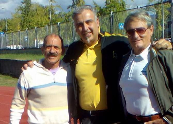 Nicola Vizzoni (al centro), con Calogero Scordino e Giuseppe Distefano