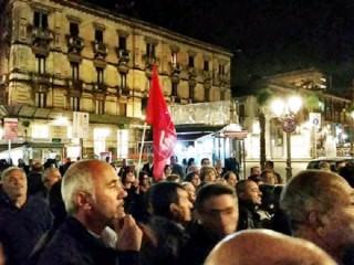 Protesta Forestali sera 27 ottobre 2015