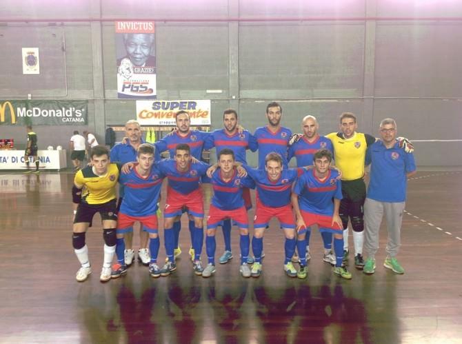 foto squadra catania c5 esordio 3 ottobre 2015