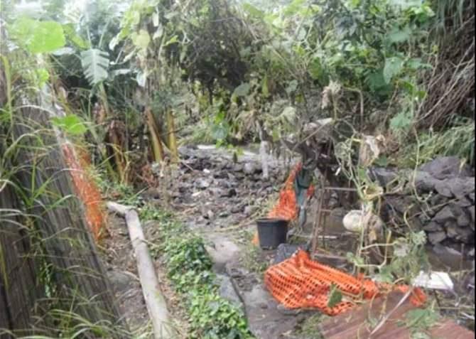 Terreno agricolo dopo le piogge del 21 ottobre