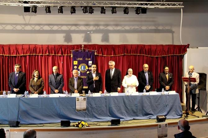 Convegno Lions tavolo relatori 20.11.15