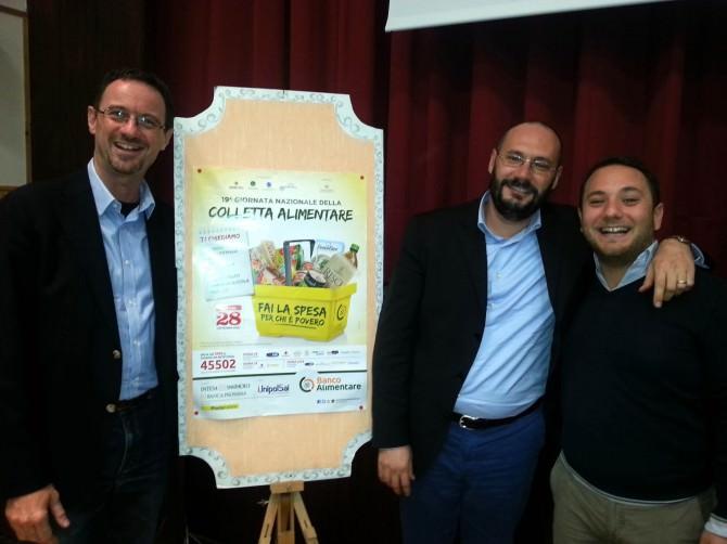 Presentazione Colletta Alimentare 2015 - Da sx Fabio Prestia, Federico Bassi e Domenico Messina