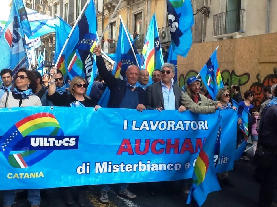 Protesta contro Federdistribuzione