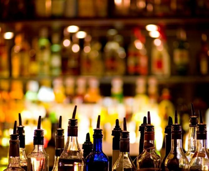 Bottiglie bar chiosco