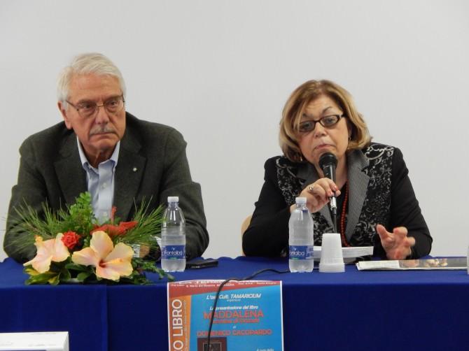 Domenico Cacopardo e la Prof.ssa Pina D'Alatri