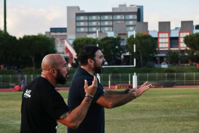 Il team manager Massimiliano Vinti e il coach Ezio Vittorio dell'Amatori Catania