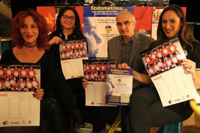 Presentazione Calendario Amatori Catania femminile lotta endometriosi