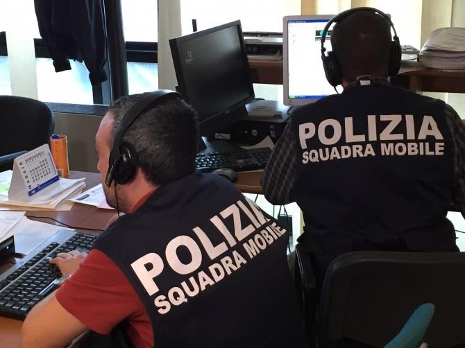 Sala operativa polizia 4 dicembre 2015
