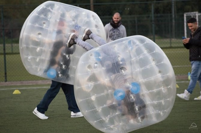 Bubble soccer a Catania