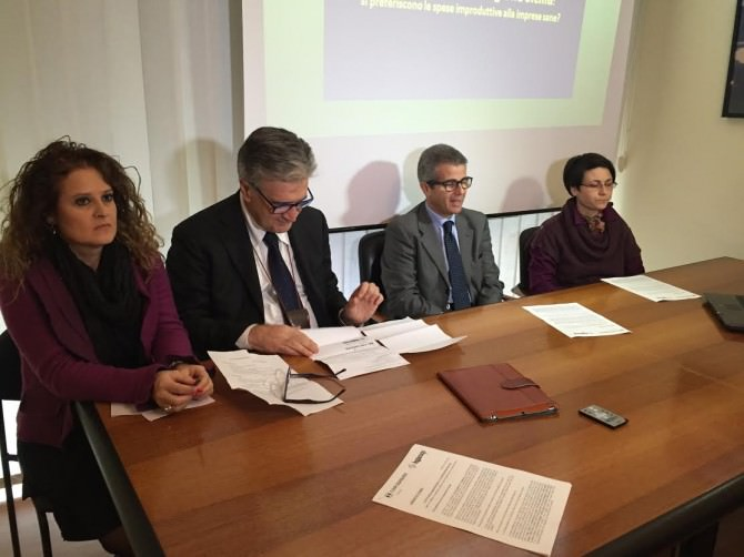 Da sinistra: Angela Peruca, Pietro Pino, Gaetano Mancini e Giusi Palermo