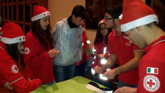 Attivita dei volontari della CRI al Museo Diocesano il 18 dicembre 2015