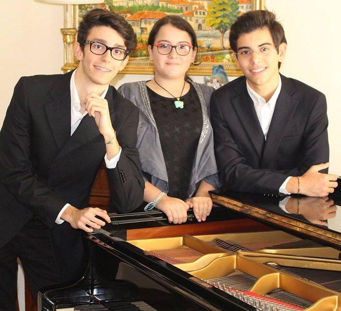 Da sinistra Federico Di Noto, Carmen Sottile e Gabriele Lauria