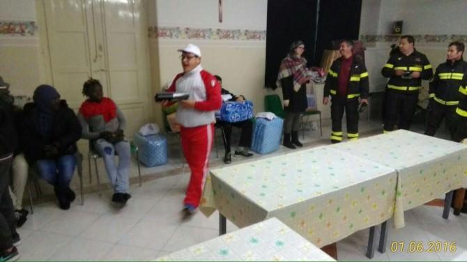 Catania, l'iniziativa dei vigli del fuoco