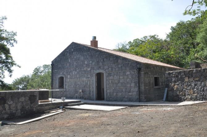 rifugio durante i lavori di restauro