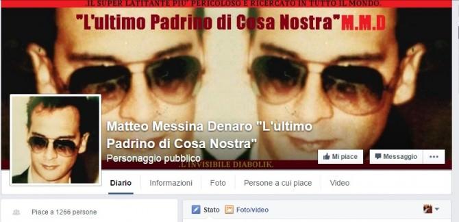 Pagina Facebook Mattia Messina Denaro