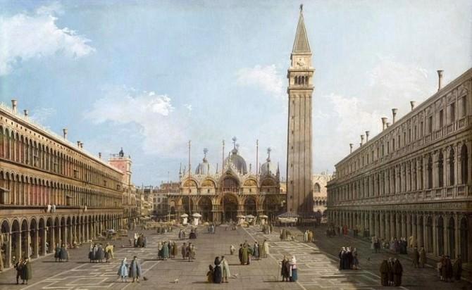 Venezia Piazza A. Marco Canaletto