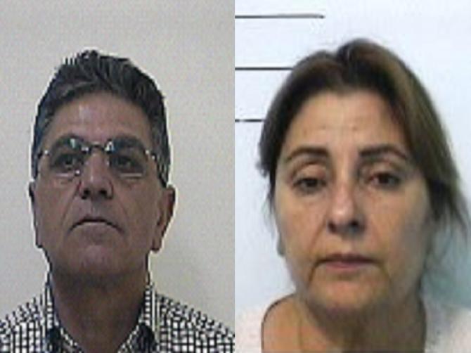 Carmelo Pavone, 67 anni e Paola Torrisi, 65 anni Laudani operazione Vicerè