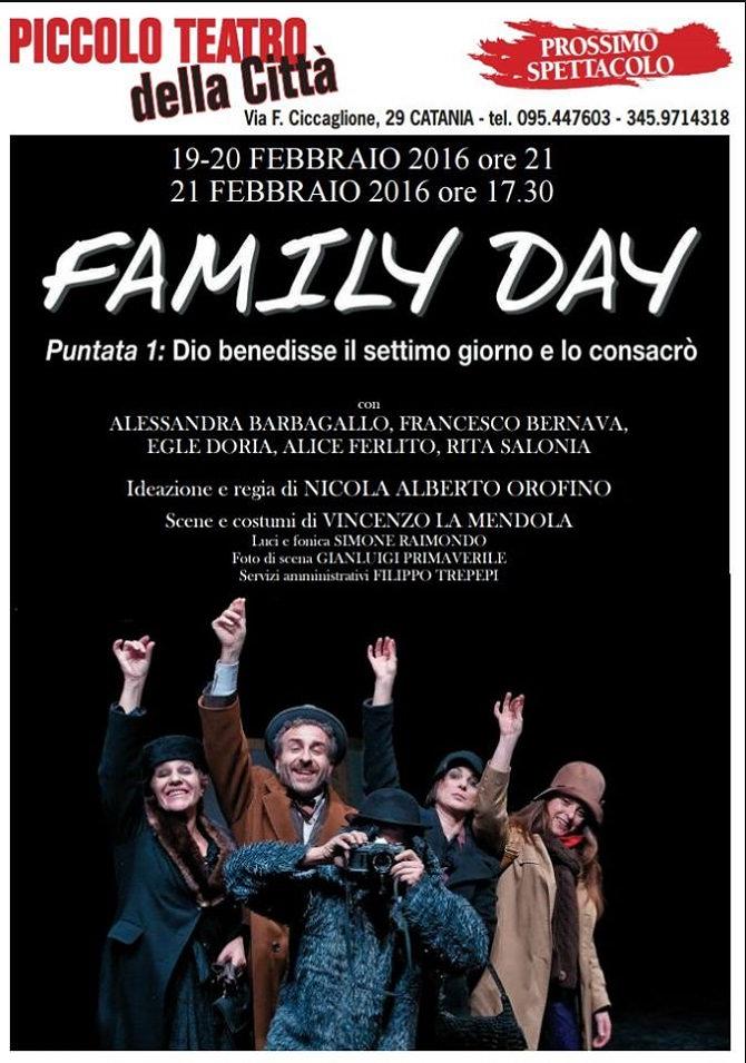 """Catania, venerdì """"Family Day"""" al Piccolo Teatro"""