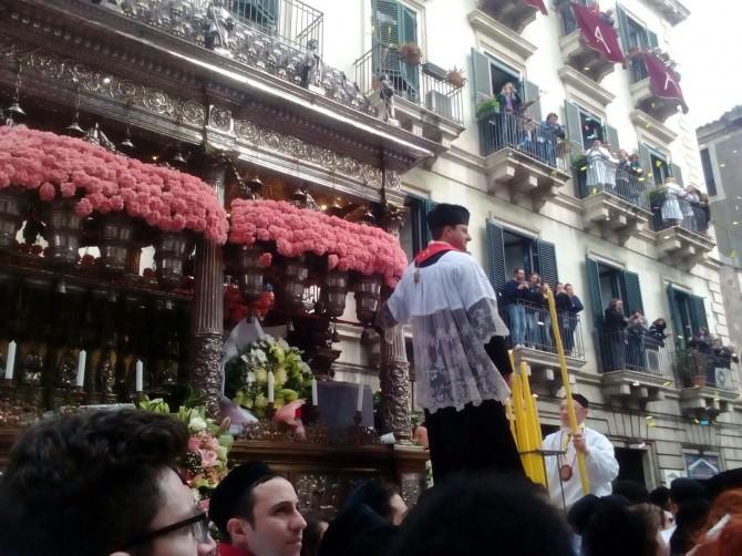 Sant'Agata: il live del giro esterno e le foto più belle dal web