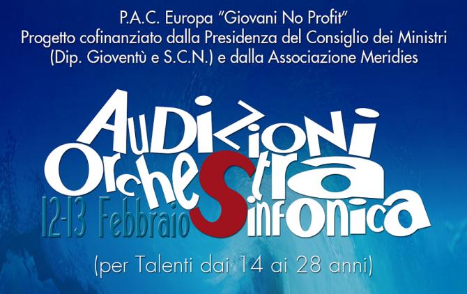 LOCANDINA audizioni orchestrali febbraio 2016