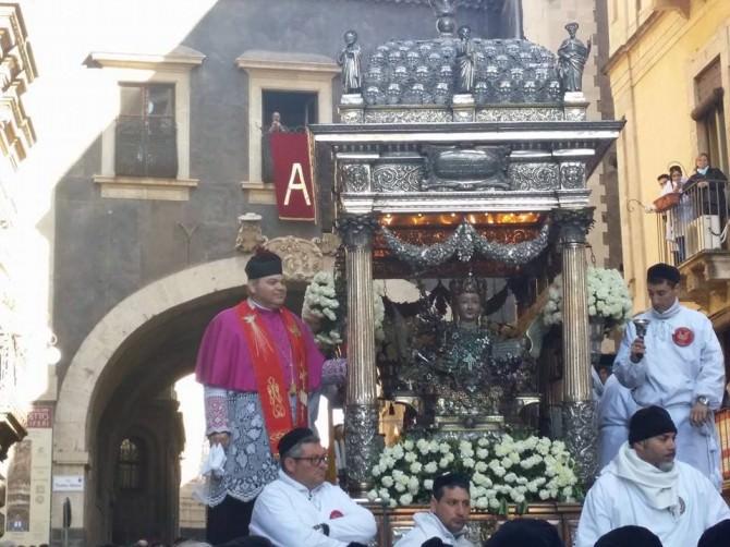 Sant'Agata: il live dai fuochi del Borgo al rientro in Cattedrale