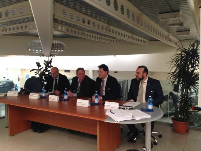 da sinistra D'Alessandro, Di Franco, Russo Vinci, Lo Grasso
