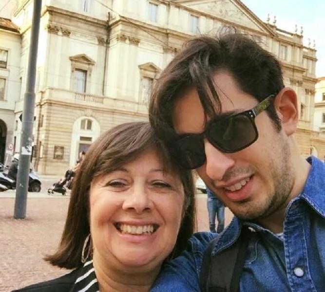 Michael Leonardi con la mamma