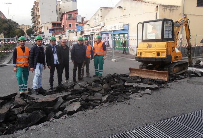 Catania: in completamento lavori collettore via Sabato Martelli Castaldi