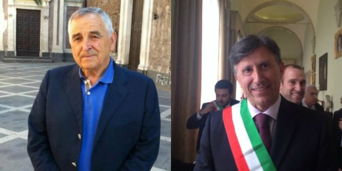 I sindaci Nino Di Guardo (Misterbianco) e Anastasio Carrà (Motta Sant'Anastasia)