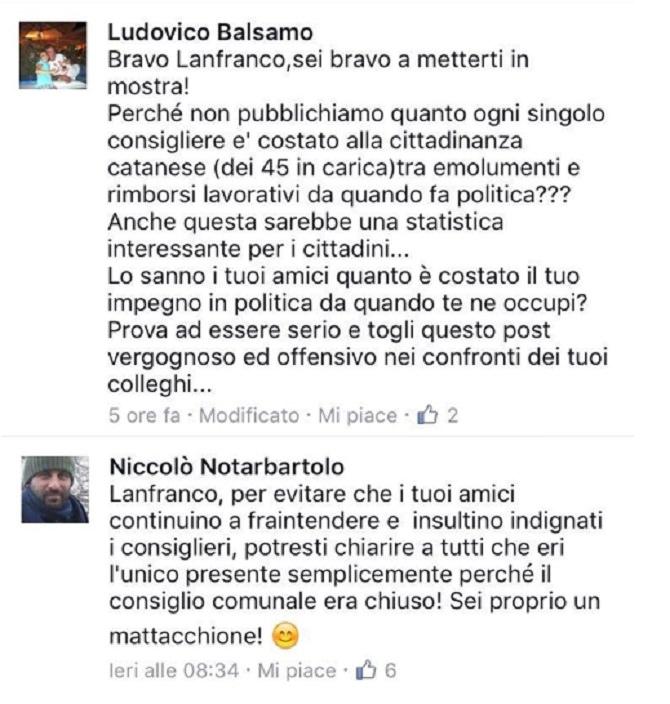 Commenti Balsamo e Notarbartolo