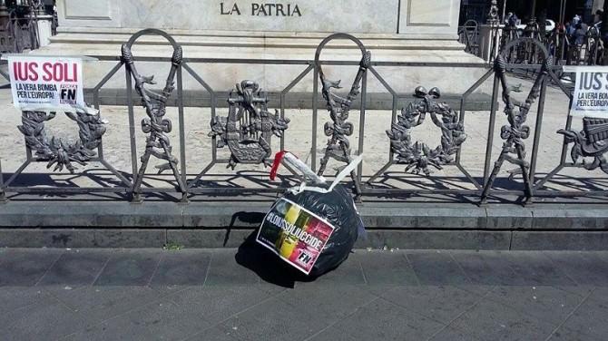 Catania, effetto Ius Soli: bomba di cartapesta a Piazza Stesicoro