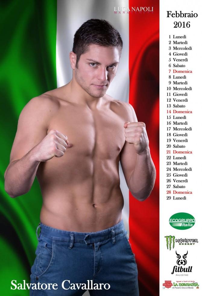 Fra sport e arte arriva il nuovo calendario di Luca Napoli. Special guest il pugile Cavallaro