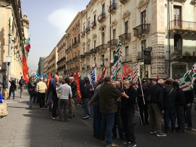 Protesta Cgil Cisl Uil Ugl