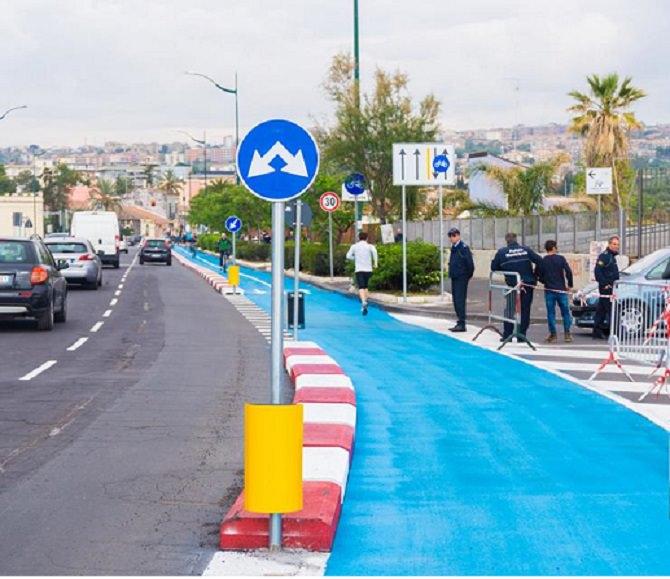 Catania in festa: inaugurata la pista ciclabile