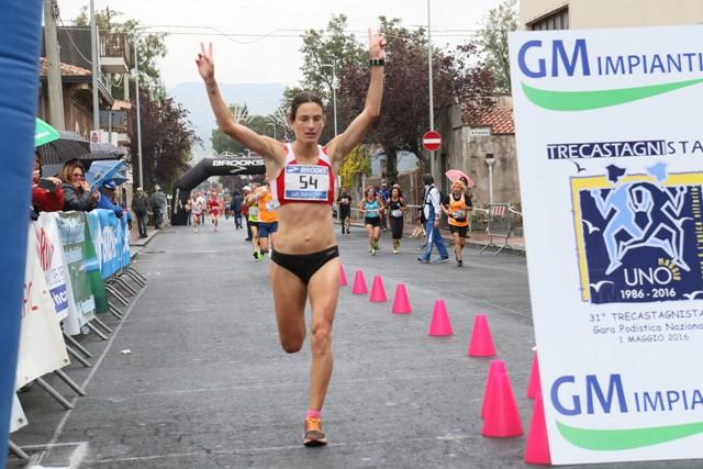 Arrivo della vincitrice Barbara Bennici