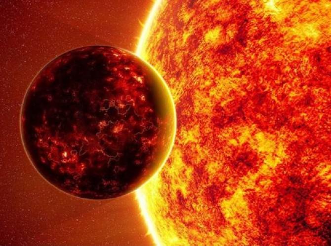 Mercurio sul Sole