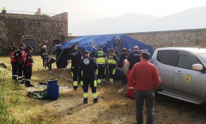 Messina- esercitazione della protezione civile a Forte Cavalli