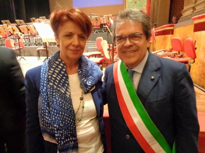 Sindaco Maria Greco (Enna) ed Enzo Bianco (Catania)