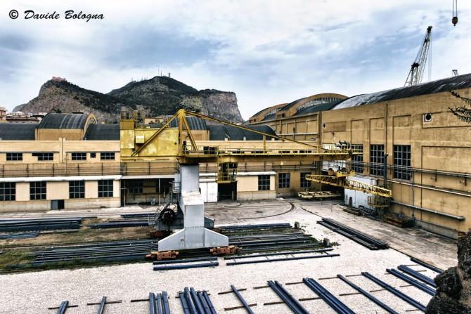 Vista del Cantiere Navale in uno spazio anticamente occupato dall'Arsenale
